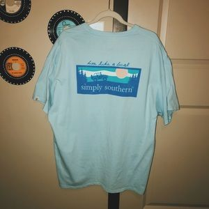 """Simply Southern """"Live like a Local"""" Oversized Tee"""